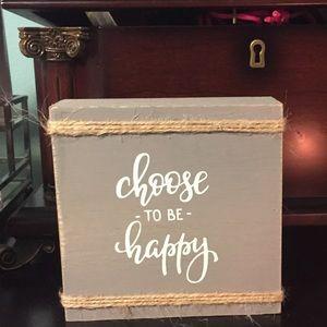 Decorative wood phrase block